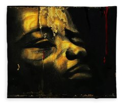 Troubled  Africa Fleece Blanket