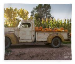 Pumpkin Time Fleece Blanket
