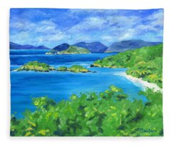 Trunk Bay Fleece Blanket