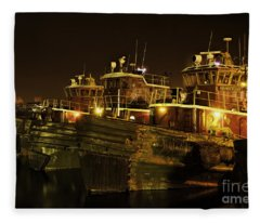 Tugboats 1st Night Dec 2013 Fleece Blanket