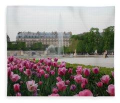 Tuileries Garden In Bloom Fleece Blanket