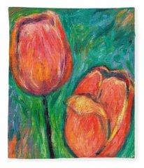 Tulip Dance Fleece Blanket