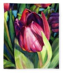 Tulip Delight Fleece Blanket