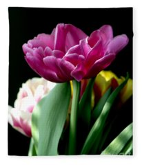 Tulip For Easter Fleece Blanket