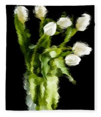 Tulip Impressions Vii Fleece Blanket