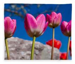 Tulip Revival Fleece Blanket