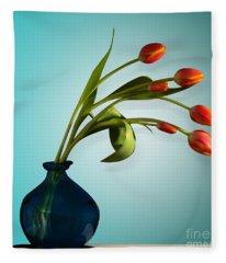 Tulips 6 Fleece Blanket