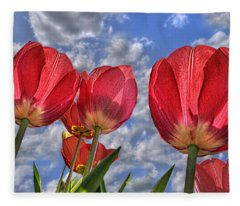 Tulips Are Better Than One Fleece Blanket