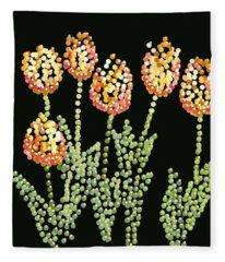 Tulips Bedazzled Fleece Blanket