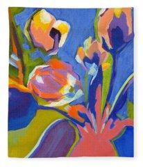Tulip Variations  Fleece Blanket