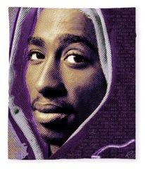 Tupac Shakur And Lyrics Fleece Blanket