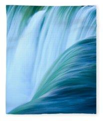 Turquoise Blue Waterfall Fleece Blanket