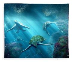 Turtle Alley Fleece Blanket