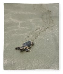 Turtle Tracks Fleece Blanket