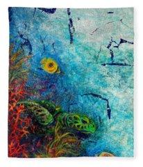 Turtle Wall 1 Fleece Blanket