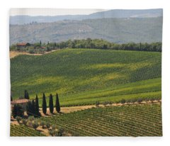 Tuscan Hillside Fleece Blanket
