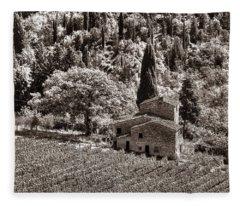 Tuscan Vinyard Fleece Blanket