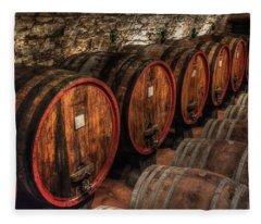 Tuscan Wine Cellar Fleece Blanket