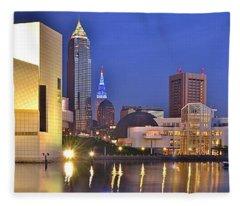 Cleveland Nightlife Fleece Blanket