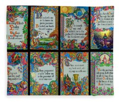 Twenty Third Psalm Collage 2 Fleece Blanket