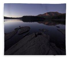 Twilight On Silver Lake Fleece Blanket