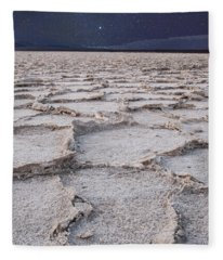 Twilight On The Salt Flats Fleece Blanket