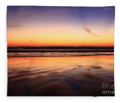 Cardiff By The Sea Glow Fleece Blanket