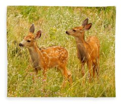 Twin Fawns Fleece Blanket