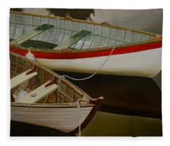 Two Boats Fleece Blanket