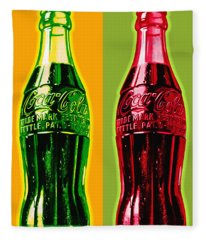 Two Coke Bottles Fleece Blanket