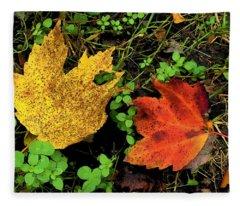 Two Leaves Fleece Blanket
