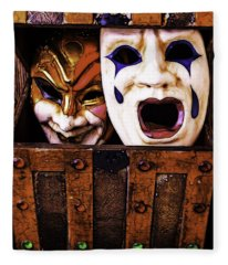 Two Masks In Box Fleece Blanket