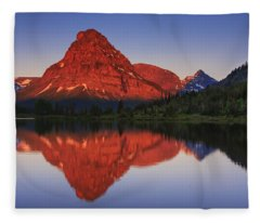 Two Medicine Sunrise Fleece Blanket