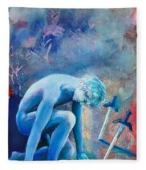 Two Of Swords Fleece Blanket