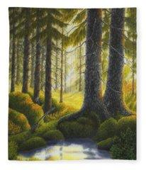 Two Old Spruce Fleece Blanket