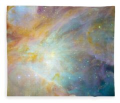 Two Sunflowers With Gaseous Nebula Fleece Blanket