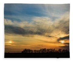 Two Suns Over Kentucky Fleece Blanket