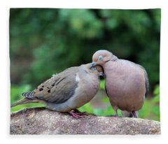 Two Turtle Doves Fleece Blanket