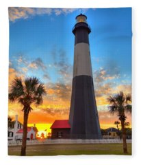 Tybee Island Sunrise Fleece Blanket