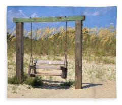 Tybee Island Swing Fleece Blanket