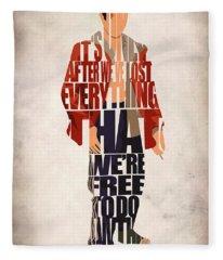 Tyler Durden Fleece Blanket