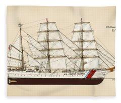 U. S. Coast Guard Cutter Eagle - Color Fleece Blanket