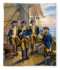 U S Navy Commander In Chief Of The Fleet Fleece Blanket