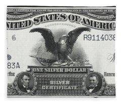 U. S. Silver Certificate 1899 Fleece Blanket