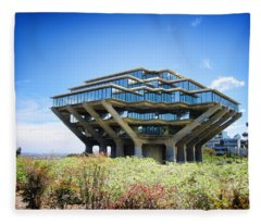 Ucsd Geisel Library Fleece Blanket