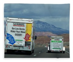 Uhaul On The Move Fleece Blanket