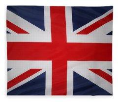 Uk Flag Fleece Blanket