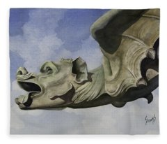 Ulmer Munster Gargoyle Fleece Blanket