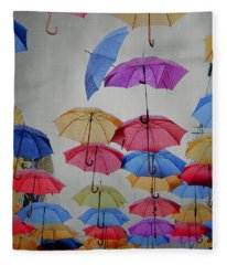 Umbrellas Fleece Blanket