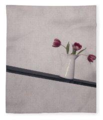 Vase Of Flowers Fleece Blankets